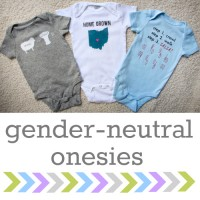 3 MORE Gender-Neutral Onesies & Silhouette Giveaway
