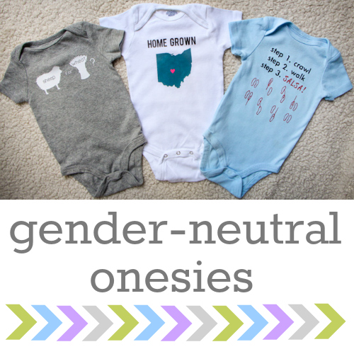 9c98c9f5d 3 MORE Gender-Neutral Onesies   Silhouette Giveaway - the thinking ...