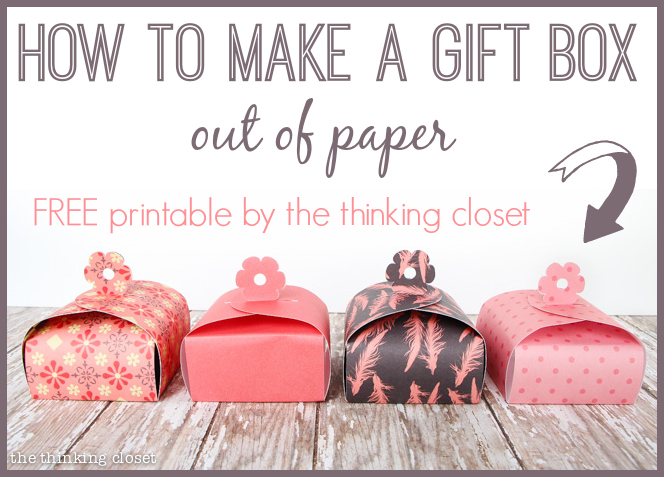 Paper Gift Box Tutorial Printable and 100 Blue Nile Giveaway the – Paper Gift Boxes Templates