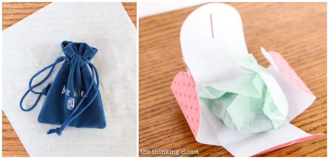 How to create flower-tab gift boxes...out of paper! via thinkingcloset.com