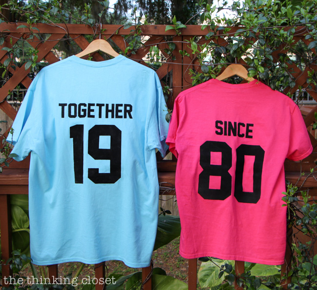 Together Since T Shirts Creative Anniversary Gift Idea The