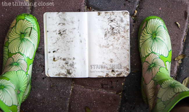 Wreck This Journal: Using My Book As A Doormat via thinkingcloset.com