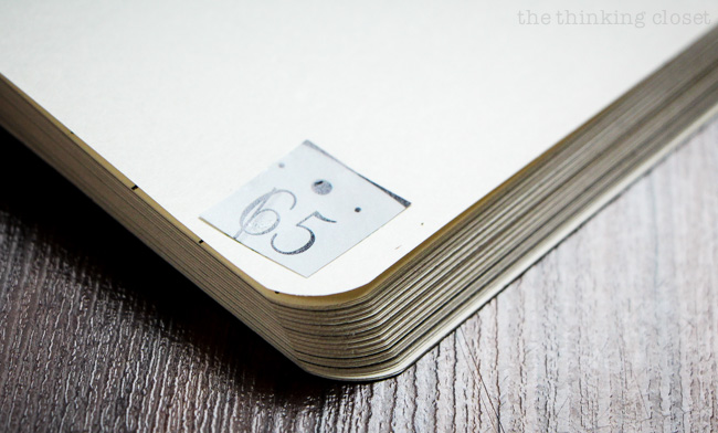 Wreck This Journal: Add Your Own Page Numbers via thinkingcloset.com