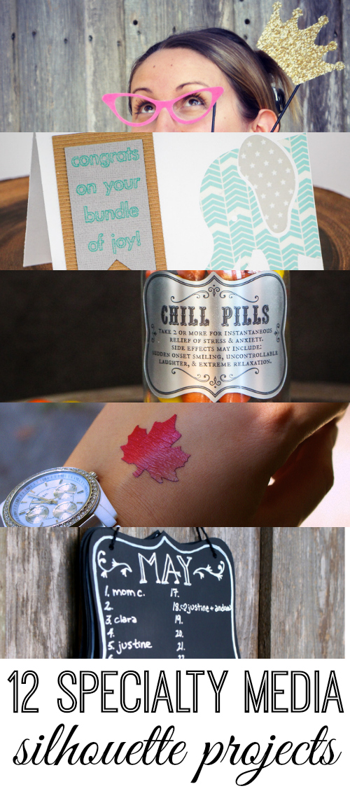 12 Specialty Media Projects to create with your Silhouette Machine!  No time to waste - - gotta get creating!  via thinkingcloset.com