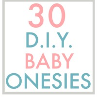 30 D.I.Y. Baby Onesies