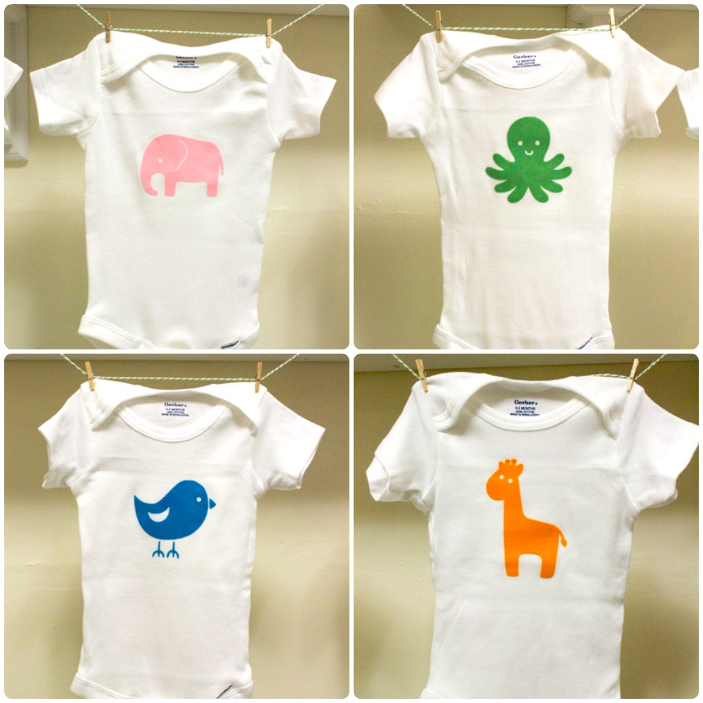 30 D I Y Baby Onesies For Your Silhouette The Thinking