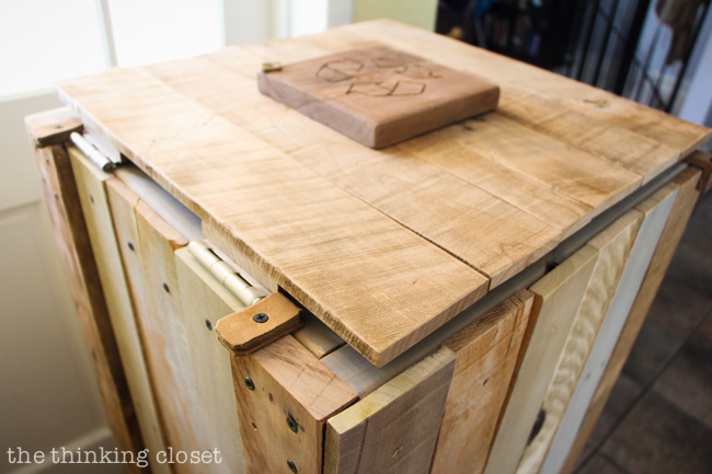 Creating The Top Lid To The Rustic Pallet Recycle Bin. Step By Step  Tutorial By