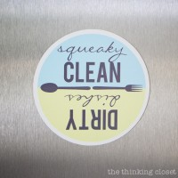 Dishwasher Magnets: FREE Cut File & Printable