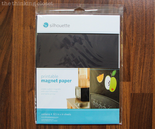 Printable Magnet Paper for your Silhouette.  The possibilities are endless! via thinkingcloset.com