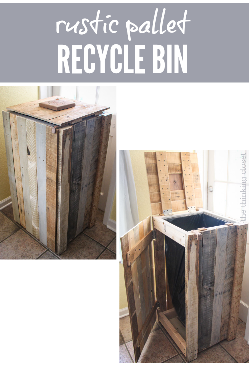 Recycling Pallets Into A Rustic Recycle Bin The Thinking