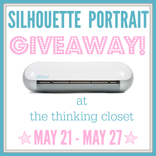 Super sweet Silhouette Portrait Giveaway happening over at thinkingcloset.com, now through May 27th, midnight eastern. Open to US and Canada residents! Enter it up!