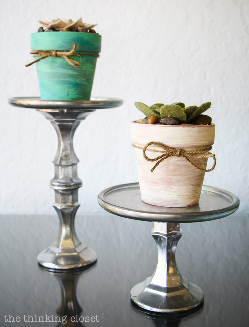 Rustic Vintage Spring Mantel  How cool are these felt succulents  Perfect  for my black. Rustic Vintage Spring Mantel   Balsam Hill Giveaway    the