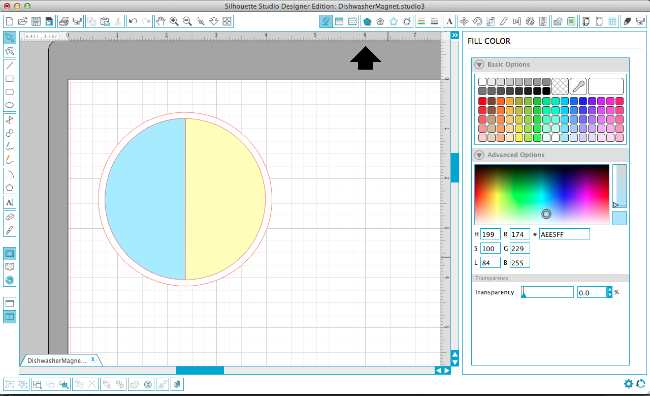 Step by step tutorial for how to create printable dishwasher magnets in Silhouette studio. via thinkingcloset.com