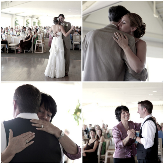 Father-Daughter Dance and Mother-Son Dances at our DIY Wedding Reception