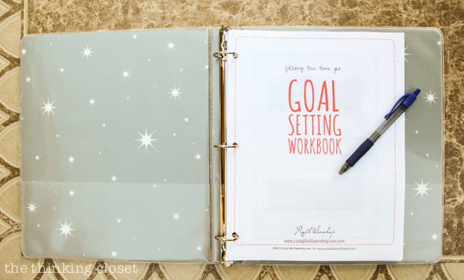 FREE Goal Setting Workbook via Living Well Spending Less