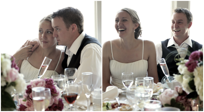 Reactions to the heartfelt speeches at our DIY Wedding Reception