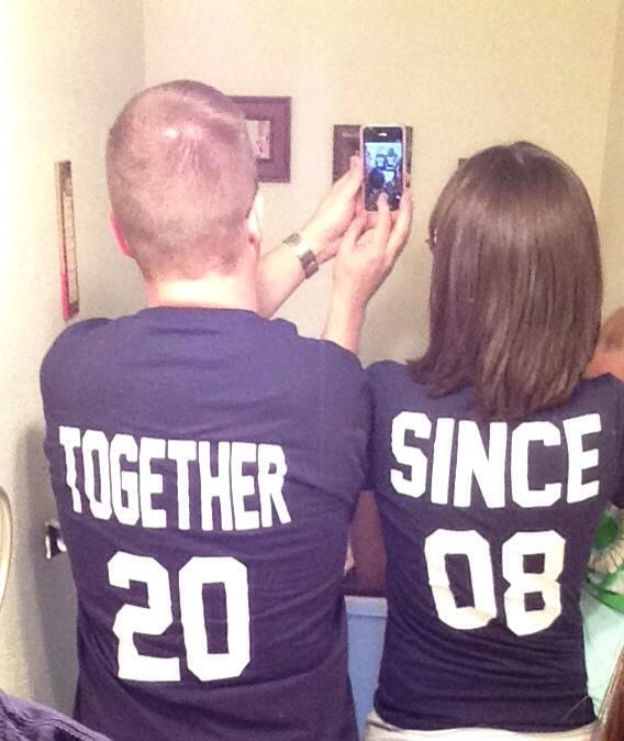 """Together Since"" T-Shirts by Nicole, Featured in The Thinking Closet's Spring 2014 Reader Showcase"