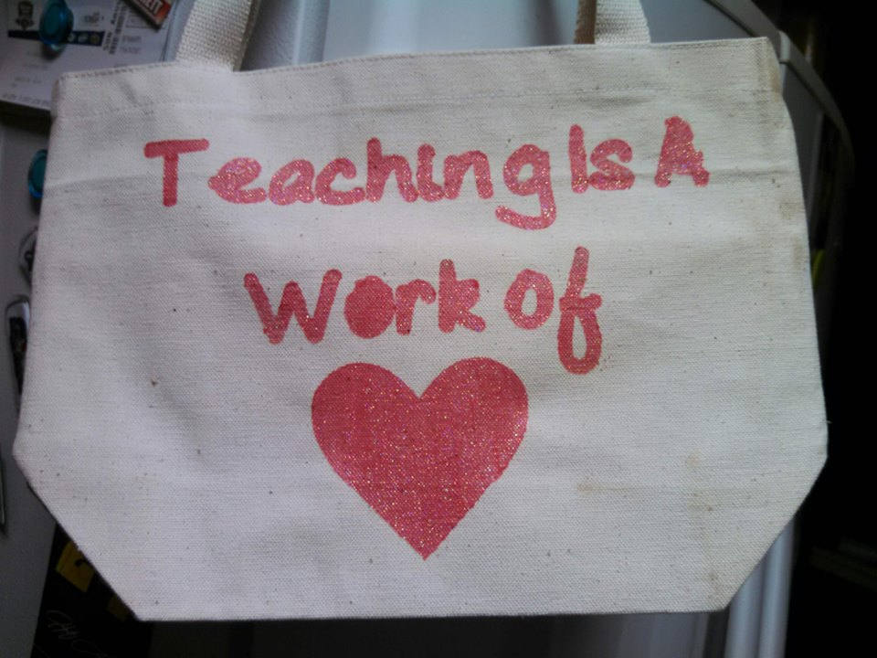 Teacher Appreciation Tote by Just Married Mom of 3, Featured in The Thinking Closet's Spring 2014 Reader Showcase