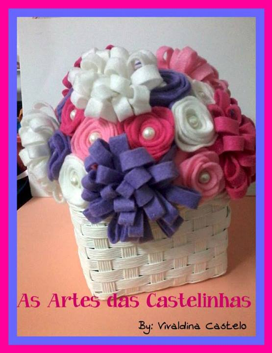 Felt Flower Bouquet by As Artes das Castelinhas, Featured in The Thinking Closet's Spring 2014 Reader Showcase
