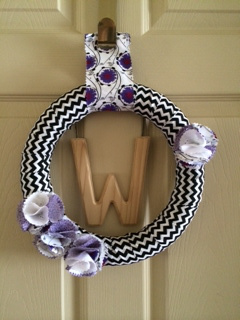 Spring Wreath by Cory via My Grandpa's House, Featured in The Thinking Closet's Spring 2014 Reader Showcase
