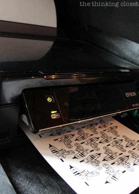 Printing your temporary tattoos; super easy to do on your home printer.