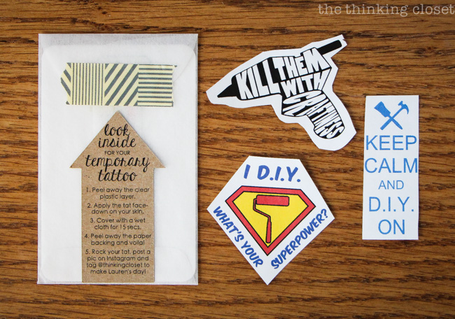 Diy temporary tattoos creative business card swag the thinking diy temporary tattoos such a fun addition to business cards especially for crafters and reheart Choice Image
