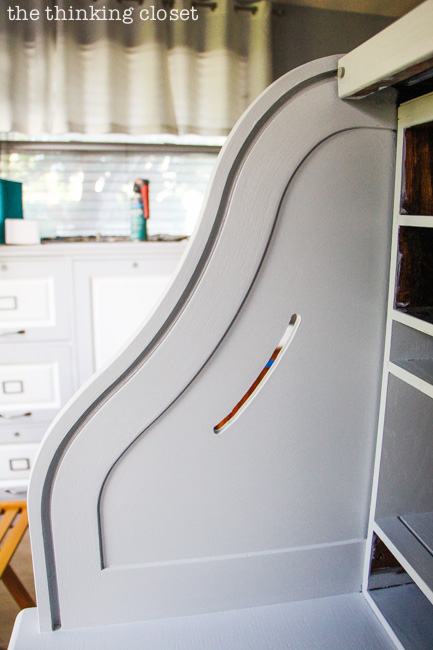 Tips for Painting a Roll-Top Desk with Latex Paint! The groove is the trickiest part....