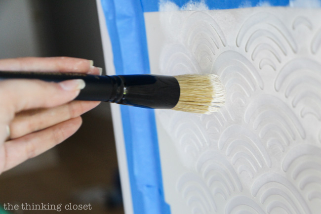 Tips and Tricks for Adding Stencil Details to Recessed Furniture Panels. A great guide for beginners!