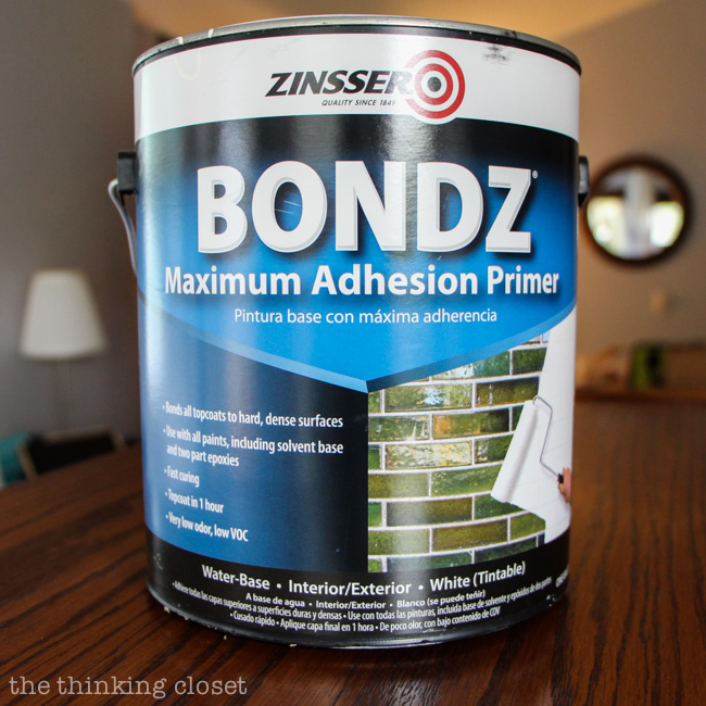 Tip #5 for Painting Furniture with Latex Paint: Make sure your paint has something on which to grip...which means sanding or using the magical Zinsser Bondz Maximum Adhesion Primer!