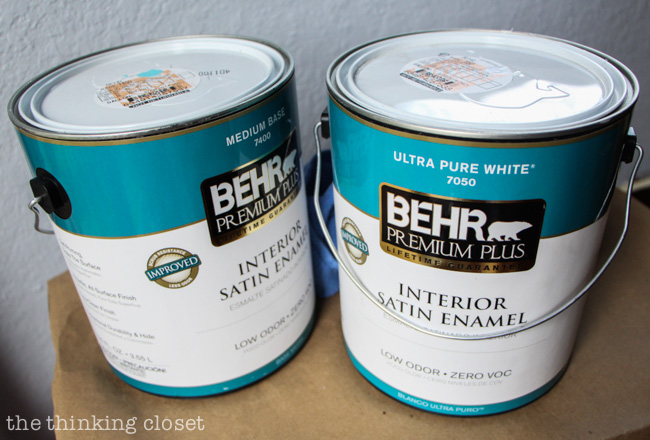 Tip #1 for Painting Furniture with Latex Paint. Use the right supplies to get the job done, and that includes NOT scrimping on paint quality. You'll pay for it later....