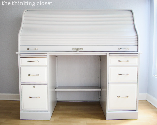 Tips For Painting A Roll Top Desk With Latex Paint It S Not As Intimidating