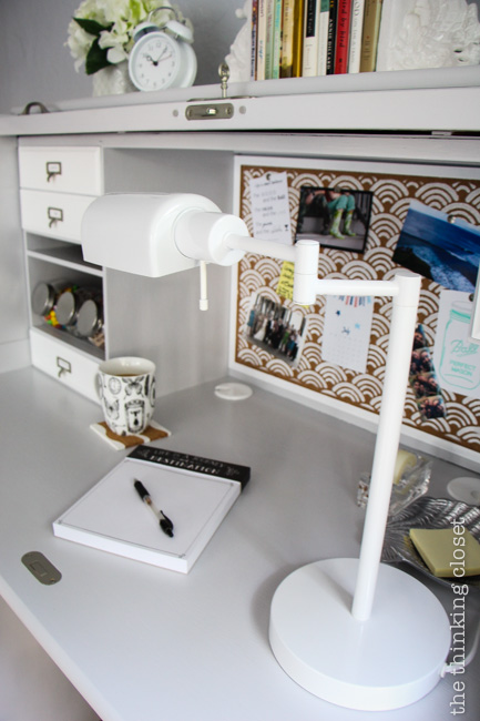 Think practical when it comes to desk styling. What do you NEED?