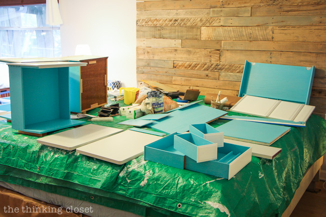 Tip #2 for Painting Furniture with Latex Paint. Choose and prepare an ideal workspace. So many of these tips are easy to forget...but clearly, so important!