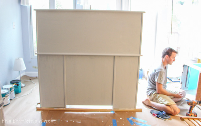 Working in the natural light is the most ideal for furniture painting projects.