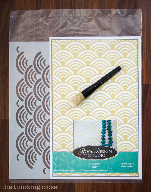Scallops Allover Stencil by Royal Design Studio...perfect for adding a bit of a beachy vibe to your furniture transformations.