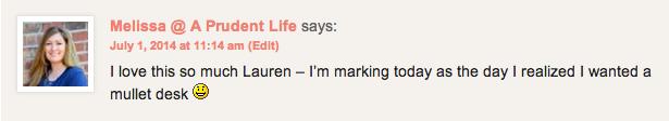 Melissa's Comment