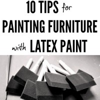 10 Tips for Painting Furniture with Latex Paint