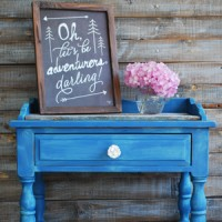 Table Transformation with Custom Blue Chalk Paint
