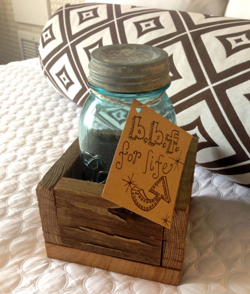 My Mason Jar and Caddy made by Candace from Rusted Roots!