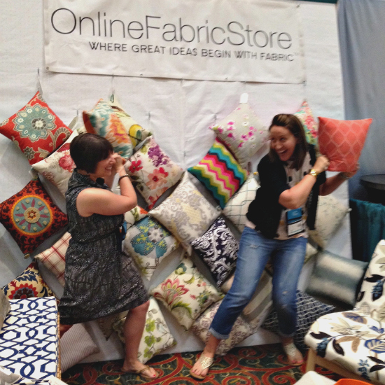 Pillow-Fight at the Online Fabric Store Booth!