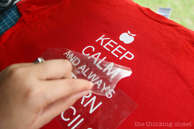 """Keep Calm & Always Return My Pencils"" T-Shirt Gift for Teachers with tips n' tricks for working with Heat Transfer Vinyl on your Silhouette machine!"