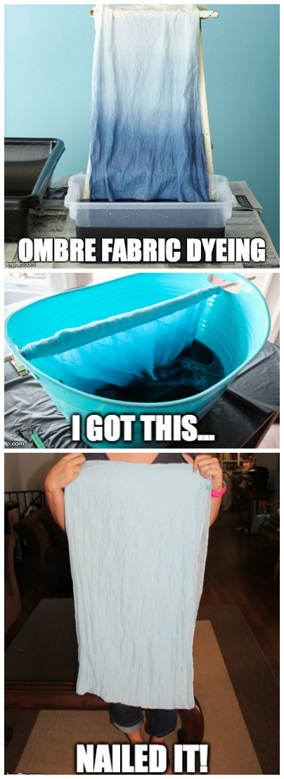 Ombre Fabric Dying: Nailed It! | The story behind my failed attempts at gradient dying...and what I learned from the debacle. {Plus 16 Creative Scarf Tutorials that are anything but fails!}