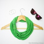 15 Minute T-Shirt Yarn Infinity Scarf. Upcycle an old t-shirt into a chic infinity scarf. Th