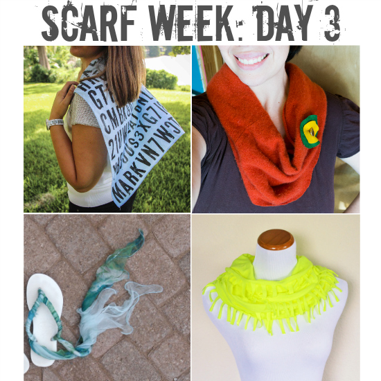 Scarf Week: Day 3.  Four more inspirational scarf projects from four of your favorite bloggers.  The inspiration never stops!
