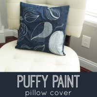 Throwback Puffy Paint Pillow Covers