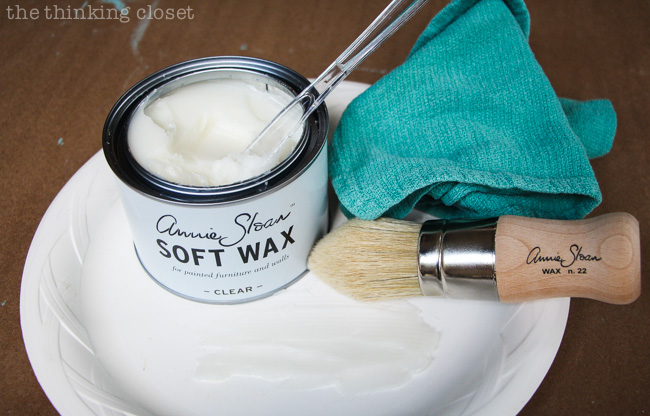 Annie Sloan Soft Wax - - How to apply it to a piece of furniture.