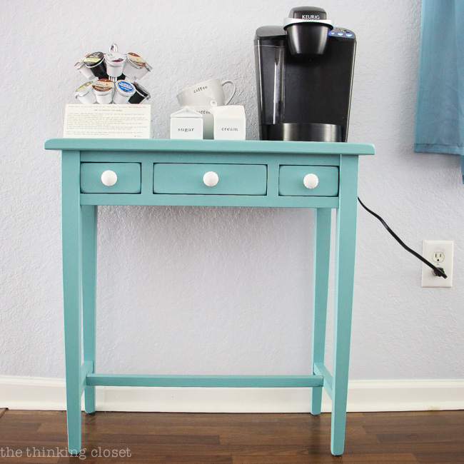 Superieur Hot Drinks Station Table Makeover Using Annie Sloan Chalk Paint In Provence  | Tutorial With Step