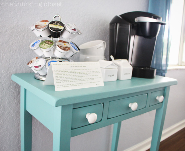 Hot Drinks Station Table Makeover Using Annie Sloan Chalk Paint In Provence  | Tutorial With Step