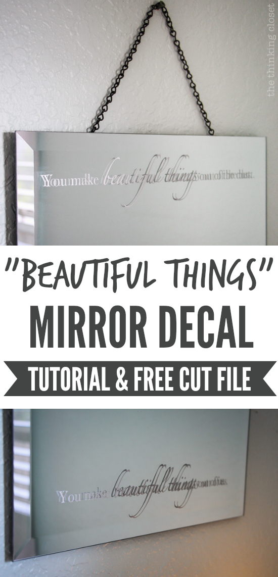 """Beautiful Things"" Mirror Decal 