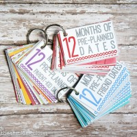 FREE Printable Pack: 12 Months of Pre-Planned Dates, Version 2.0